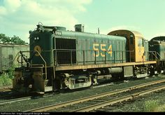 RailPictures.Net Photo: MEC 554 Maine Central Alco RS-2 at Waterville, Maine by George W. Hamlin