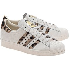 ADIDAS ORIGINALS Superstar 80s Aminal Leo // Leather sneakers with fur (175 CAD)…