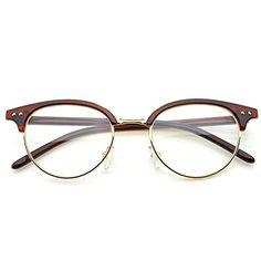 e528cf9914d PenSee Fashion Inspired Classic Half Horn Rimmed Clear Lens Glasses  Eyeglasses Frames Review