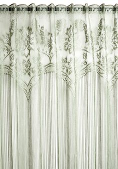 Elegance Upon a Time Curtain. Enchanting as your most magnificently decorated dreams, these fringed curtains will fill your home with storybook sophistication! #green #modcloth