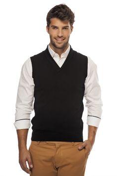 Men V-neck Sleeveless Sweater Vest , Sweaters, Men Sweater ...
