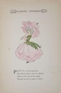 Flower Children 1912 Childrens Book Illustration by APaperReverie, $10.00