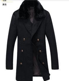 6142e20fef3 Yves Saint Laurent Pea Coat With Shearling Collar in 2019 | Menswear ...