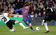 Messi scores 4 goals in a 5-1 win over Valencia