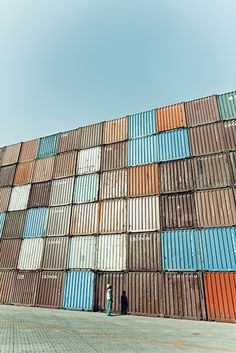 shipping container wall