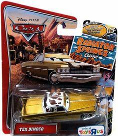 "Disney Pixar Cars Radiator Springs Classic ""Tex Dinoco"" 1/55 Scale Exclusive Vehicle Mattel by Mattel. $11.99. Disney/Pixar Cars Radiator Springs Classic ""Tex Dinoco"" 1/55 Scale Exclusive Vehicle. Disney/Pixar Cars Radiator Springs Classic ""Tex Dinoco"" 1/55 Scale Exclusive Vehicle"