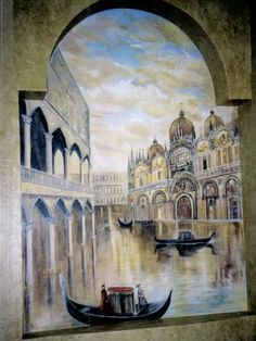 Mural, Art, Painting, Design:   Reflections Of Italy by Louise Moorman