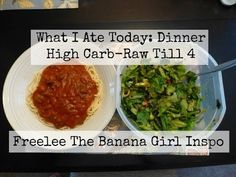 What I Ate Today: Dinner - High Carb - Raw Till 4 - Freelee The Banana Girl Inspo - Happy To Be Raw