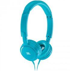JBL Tempo on-the-ear Headphone Blue Bass Headphones, Over Ear Headphones, Stuff To Buy, Blue, In Ear Headphones
