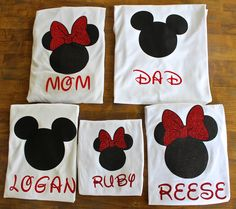 Disney Matching Family shirts or Individual Minnie Mickey Disney Custom, Personalized T-Shirts, Disney Family shirts, Disney Tank, by ALittleExtraMagic on Etsy https://www.etsy.com/listing/218760850/disney-matching-family-shirts-or