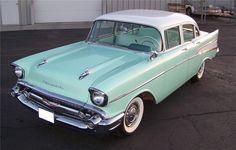 1957 CHEVROLET 210 4 DOOR SEDAN - 71411