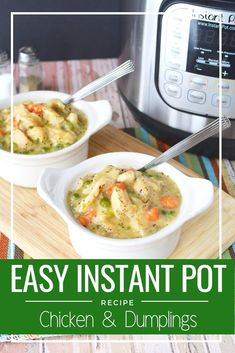 The Best Instant Pot Chicken & Dumplings Recipe Southern Comfort Food. You need to make my famous Instant Pot Chicken & Dumplings. I grew up on Chicken & Dumplings but this is even better. Your family is going to ask you to make it over and over. Instapot Chicken And Dumplings, Dumplings For Soup, Dumpling Recipe, Biscuit Chicken And Dumplings, Southern Comfort, Instant Pot Pressure Cooker, Pressure Cooker Recipes, Instant Pot Dinner Recipes, Instant Recipes