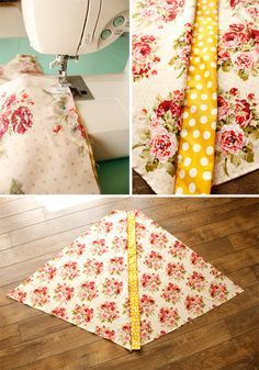 DIY Teepee- I like the fabric tube idea for the poles
