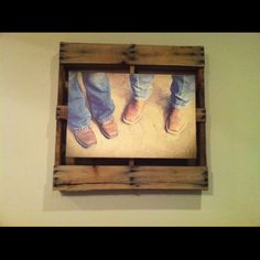 Pallet frame for canvas print