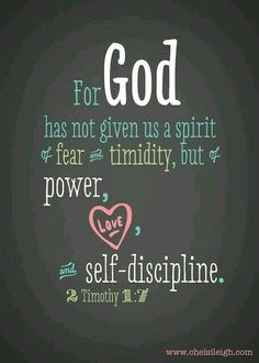 One of the scriptures I spoke into my spirit until It became. Existent in my Life