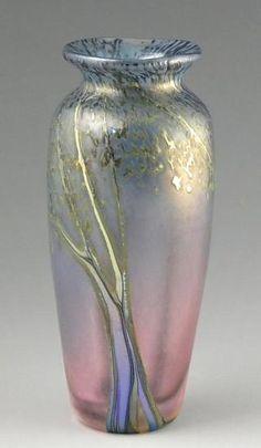 """Sunset Miniature Mesa Landscape Vase""  Art Glass Vase  Created by Peet Robison"