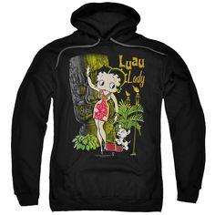 Black Hooded Sweatshirt, Hooded Sweatshirts, Hoodies, Retro Fan, Graphic Shirts, Betty Boop, Luau, Order Prints, Pullover