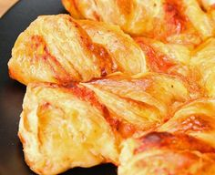 Pizza Puff Pastry Twists recipe