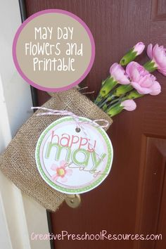 May Day neighbor gift and printable tag