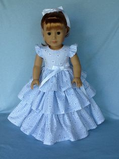 American made 18 inch doll dress. Fits American by ASewSewShop