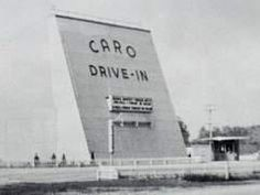 The pop corn was popped and buttered, we were taking our kids to their first trip to the drive in that night.  Storm blew in before dark and blew the screen down. Poor kids never got to go to the drive in. Caro, MI