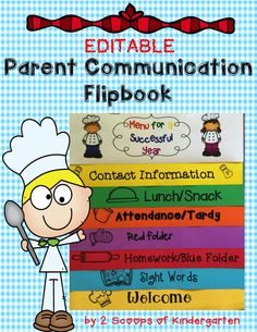 Do you have a recipe for a successful classroom? Try this  flipbook to help with parent communication! Editable to fit your classroom needs.