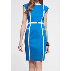 retro blue dress.
