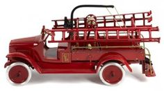 Buddy L Pressed Steel Hook And Ladder Truck