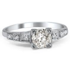 emera art deco engagement ring