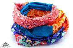 Kleidung unkompliziert und schnell aufpeppen mit einem Patchworkschal der #lieblingsmanufaktur: Loop Schal /  Rundschal - Unikate im Patchwork Stil, handgemachtes Designer - Einzelstück, schöne Tücher, ausgefallene Schlauchschals auf lieblingsmanufaktur.de