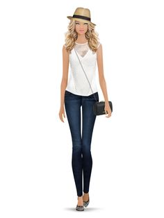 Styled with: Rebecca Minkoff, Black Orchid, Twenty, Eric Javits   Create your own look with Covet Fashion
