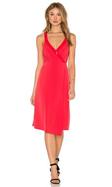 Shop for BCBGeneration Drape Front Midi Dress in Red Chili at REVOLVE. Free 2-3 day shipping and returns, 30 day price match guarantee.