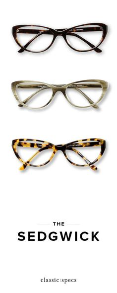 7b93685034a86 Meet the Sedgwick  the classic cat eye glasses inspired by shapes of the  1960s.