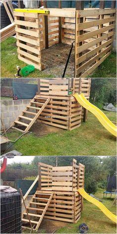 Diy Wood Pallet, Pallet Kids, Diy Pallet Furniture, Diy Pallet Projects, Wooden Pallets, Outdoor Projects, Wooden Diy, Backyard Pallet Ideas, Garden Pallet