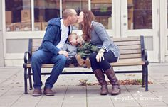 www.yellowarrowphotography, kissing photo, twins, family photos, fall family photos, urban photo shoot, what to wear family photos, toddler photos