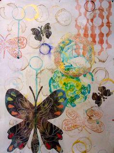 Celine | Carmen B. Norris-mixed media
