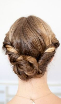 Twisted and Rolled   Hairstyle
