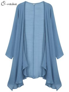 O-Newe Casual Women Long Sleeve Pure Color Bamboo Cotton Cardigan