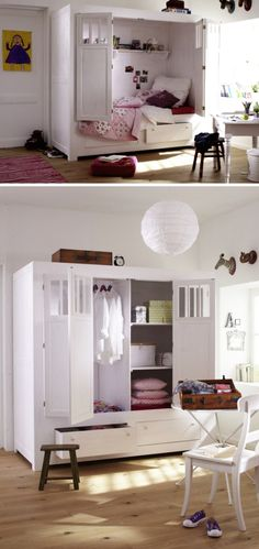 Exceptional Cots: Inspiration for the Nursery Source by kleinedesign Kidsroom, Girls Bedroom, Tiny House, Sweet Home, Nursery, Storage, Interior, Wall, Inspiration