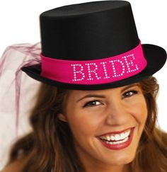 Gem top hat for the bride at her bachelorette part!