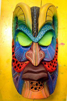 Boruca Ceremonial Mask. $180.00, via Etsy.