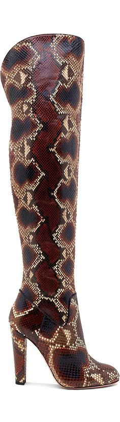Sebastian snakeskin over knee high boots; not a fan of over the knee but love the pattern