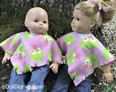 Doll Play Day 93 – Easy No Sew Fleece Poncho for Dolls — Doll Diaries Bitty Baby Clothes, Girl Doll Clothes, Girl Dolls, Fall Sewing, Sewing For Kids, Fleece Projects, Sewing Projects, Sewing Ideas, Craft Projects