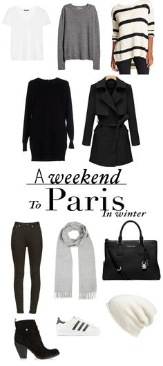 What To Pack For A Weekend In Paris – Winter Edition (Liever op Reis) - core wardrobe - Winter Travel Outfit, Winter Outfits, Cool Outfits, Travel Outfits, Travel Wear, Travel Wardrobe, Capsule Wardrobe, Core Wardrobe, Paris In December
