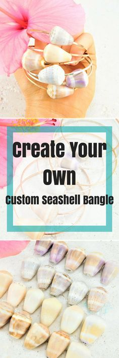 Customize your own bangle and choose your shell! These cone shells are handpicked from Hawaii and come in pretty pastel colors. Boho Bangle, Boho Bracelet, Bangles, Beach Bangles, Shell Bangles, Seashell Bangles, Mermaid Bangles, Ocean Bangles, Hawaiian Bangles, Beachy Bangles, Surfer Bangles, Cone Shell Bangles, Seashell Bangles, Summer Bangles, Purple Shell, Pink Shell, Pink Seashell, Seashell Jewelry, Summer Jewelry, Summer Inspo, Summer Fashion, Beach Fashion, Surfer Girl Fashion, Surfer…