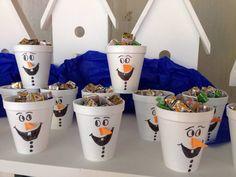 lembrancinha da festa do Olaf - tema Frozen