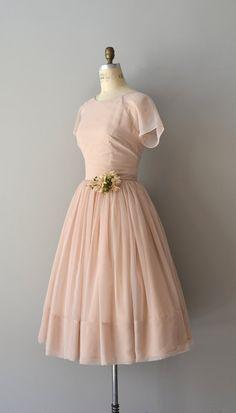La Tournelle dress / vintage 50s dress / chiffon por DearGolden