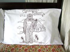 Screen Printed Sasquatch Pillow Cases S/2