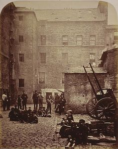 Scotland Glasgow 1868 Close, No. 46 Saltmarket, from Old Closes and Streets of Glasgow, Thomas Annan