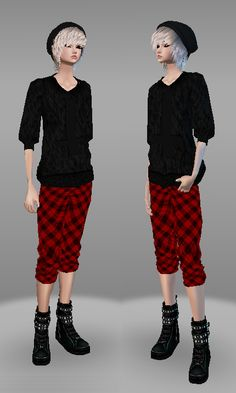 IMVU ~†~ Style to rock ~†~ A customize style of Simple Tboy outfit 2. Female gender. Please click picture for full size :)